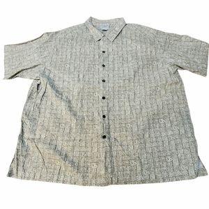VIntage LL Bean Tiki Head Hawaiian Shirt Men's